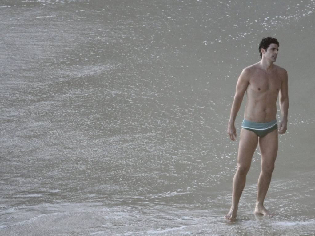 O ator Reynaldo Gianecchini aproveitou a folga nas gravações da novela