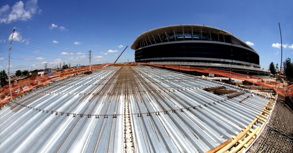 Obras em fase final na construção da Arena do Grêmio