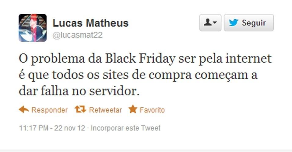 Reclamações redes sociais black Friday