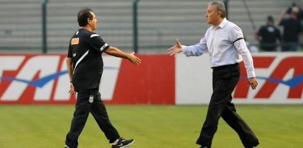 Muricy e Tite em um de seus últimos encontros; dupla tem história no clássico entre Corinthians e SP