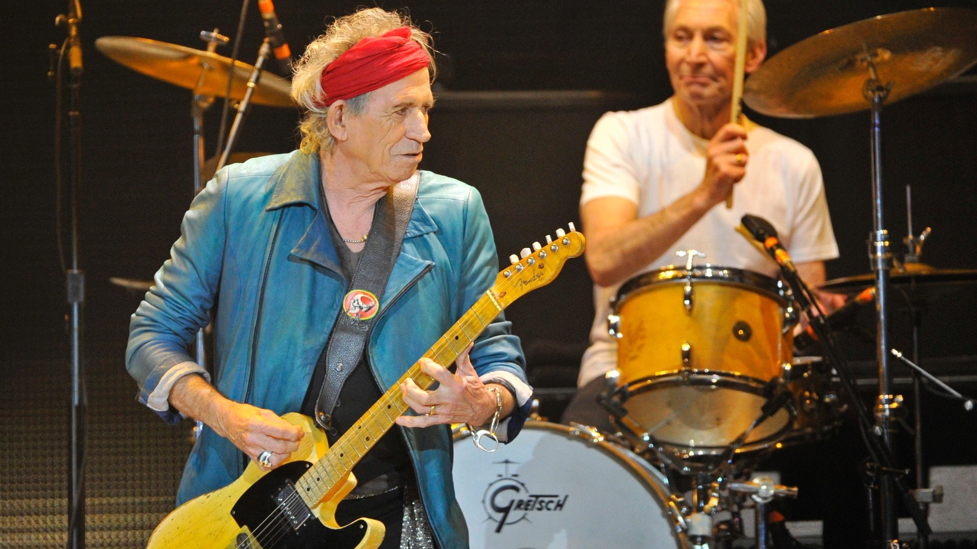 Keith Richards e Charlie Watts tocam no primeiro show dos Stones depois de um hiato de 5 anos (25/11/12)