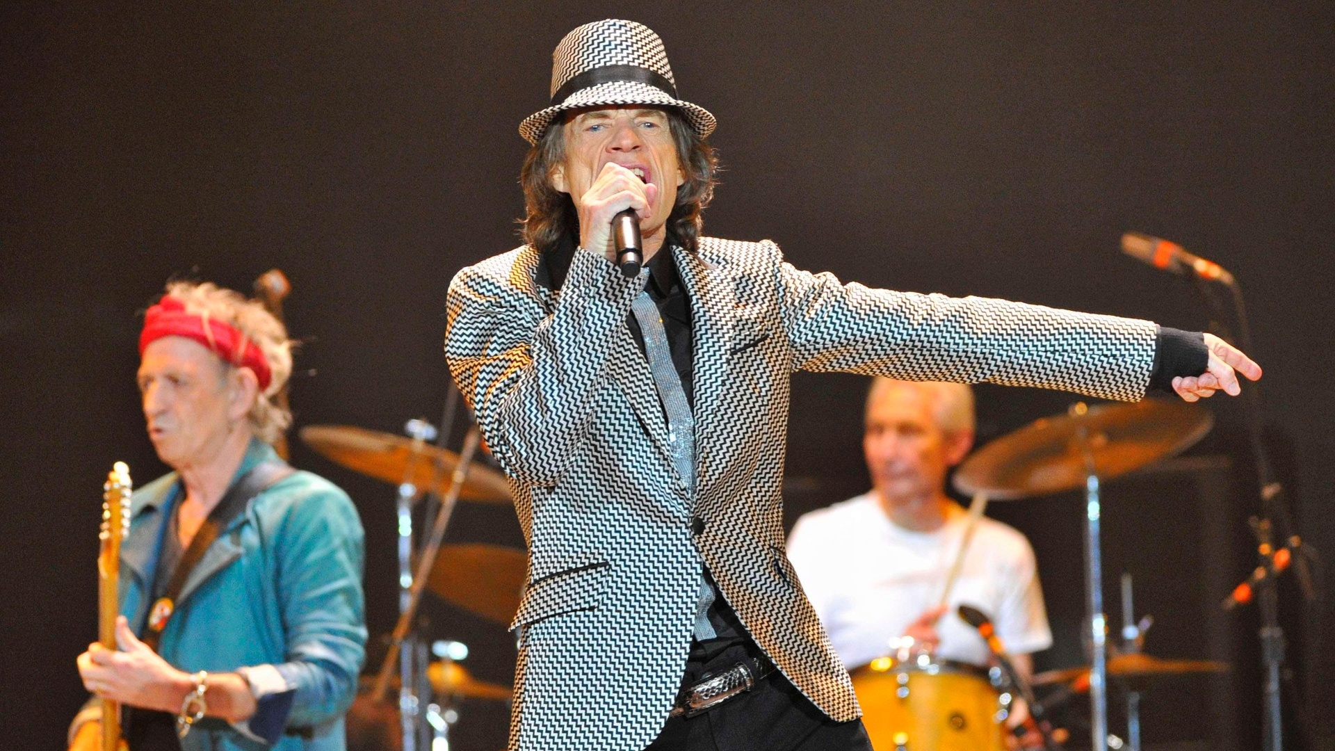Os Rolling Stones apresentam seu aguardado retorno aos palcos, cinco anos aps sua ltima turn, neste domingo (25/11/12) em Londres