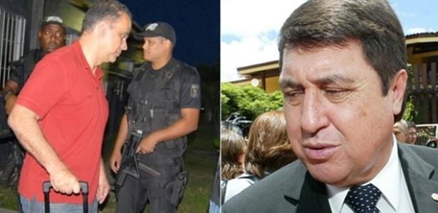 O publicitário Marcos Valério (esq.) recebeu a maior pena do mensalão, e o ex-deputado José Borba, a menor