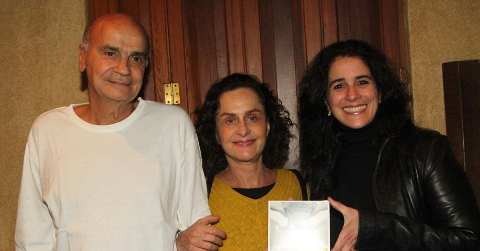 Drauzio Varella, Regina Braga e Lúcia Veríssimo no show de Zélia Duncan no Tom Jazz (26/11/12)