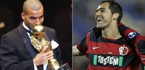 Emerson beija troféu de melhor da liga japonesa de 2003; Danilo: sucesso no Kashima