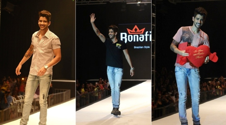29.nov.2012 - O cantor Gusttavo Lima participou de uma desfile de moda que aconteceu em um shopping em Goiânia