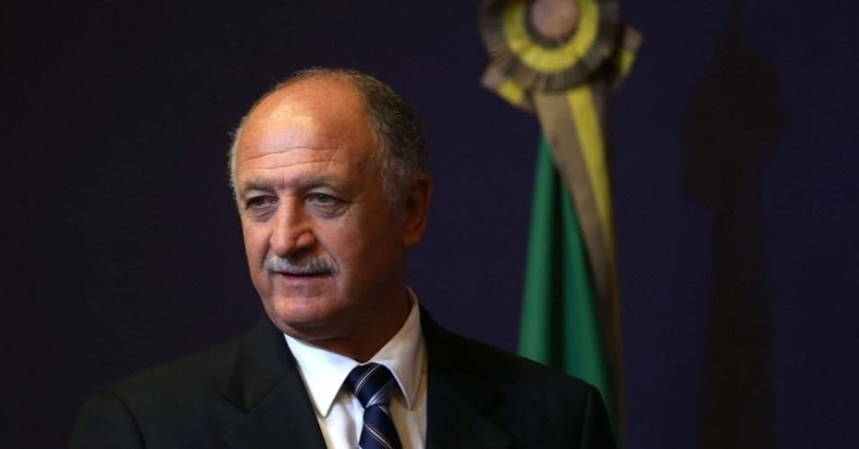 29.nov.2012 - Luiz Felipe Scolari é anunciado como novo técnico da seleção brasileira no Rio de Janeiro