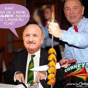 Corneta FC: Felipão aproveita vida de técnico de seleção e diz que até alimentação melhorou
