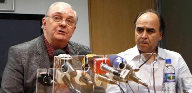 Presidente Gilvan de Pinho Tavares (e) diz que contratar Marcelo Oliveira era um sonho