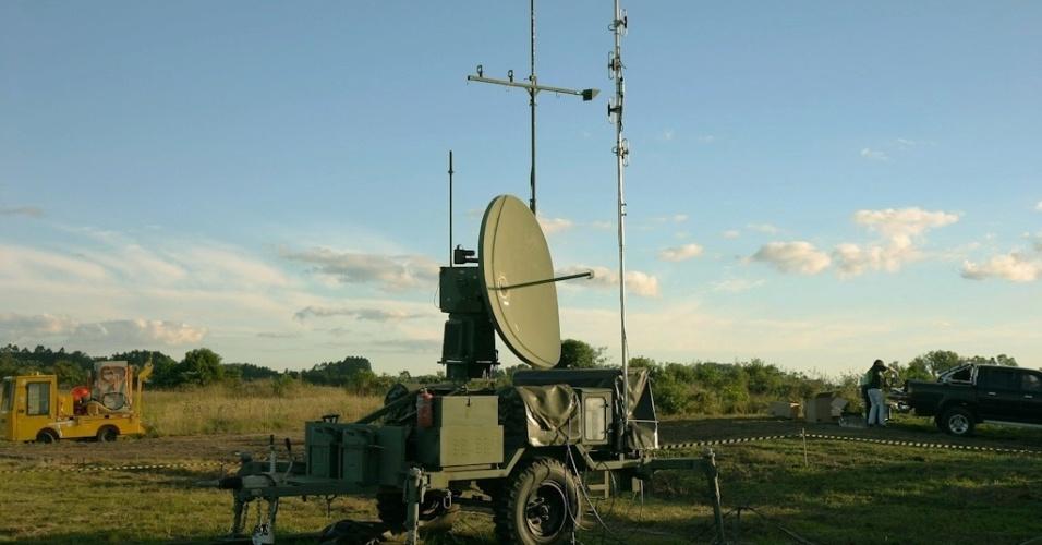 04.nov.2012 - Antena de controle de avião não tripulado da Força Aérea: equipamento auxiliará na segurança da Copa do Mundo de 2014