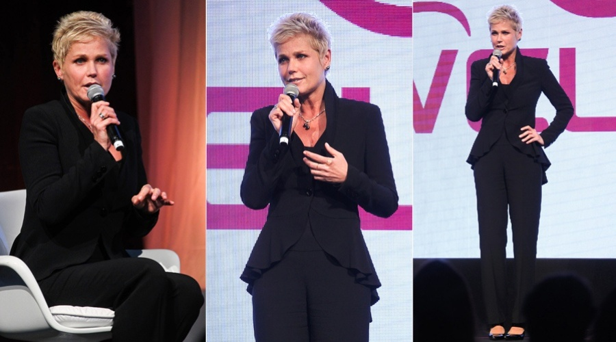 4.dez.2012 - A apresentadora Xuxa prestigiou o