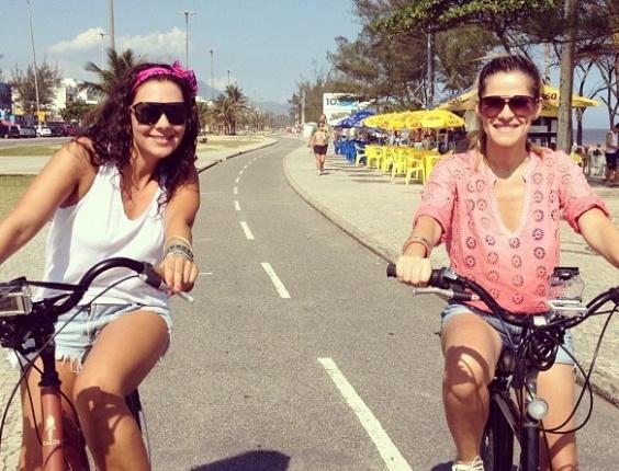 4.dez.2012 - Ingrid Guimarães e Fabiula Nascimento gravaram um quadro para o programa do canal GNT