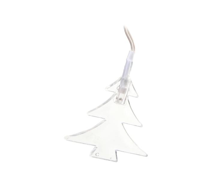 Em formato de árvore de Natal, o pisca pisca Lumix na cor branca possui 20 lâmpadas, interligadas em um fio de 1,2 m. O enfeite pode ser comprado na Etna (www.etna.com.br) por R$ 19,99 | Preços consultados em novembro e sujeitos a alterações