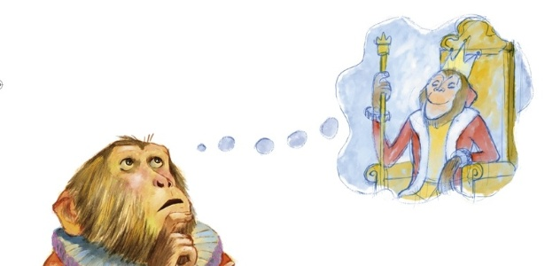 Macaco Puxa-Saco vai ajudar o le�o a achar um novo rei no livro O Le�o de Tanto Urrar Desanimou