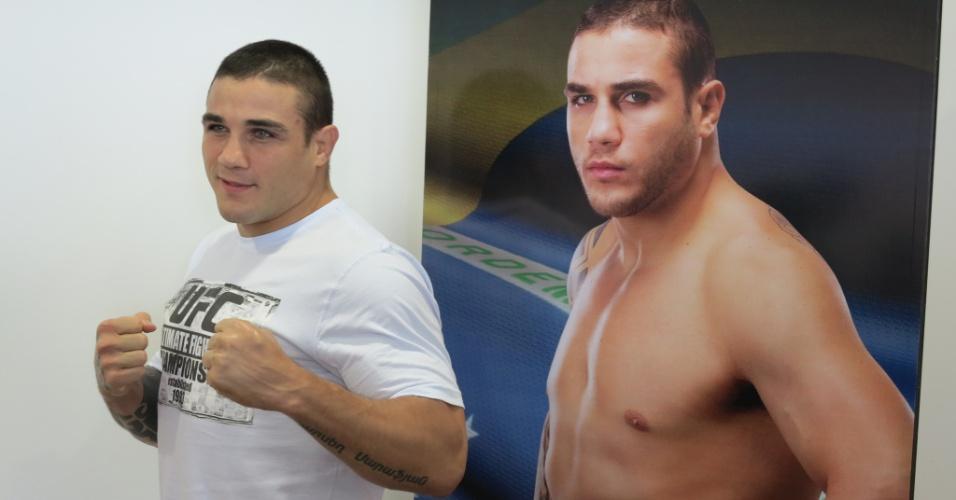 05.dez.2012 - Daniel Sarafian participa de evento de divulgação do UFC em São Paulo