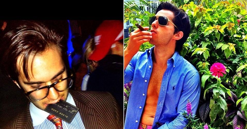 Aaron Sklar, dono das fotos acima publicadas, tem 24 anos. ''Adoro um estilo de vida luxuoso, que inclui gastar US$ 20 mil [cerca de R$ 42 mil] em um bar, com champanhe, e comprar um relógio de US$ 50 mil [cerca de R$ 105 mil]'', contou. Para ler a entrevista completa, clique em MAIS