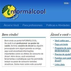 Além de informações sobre álcool, o site oferece avaliações e um programa para reduzir o consumo