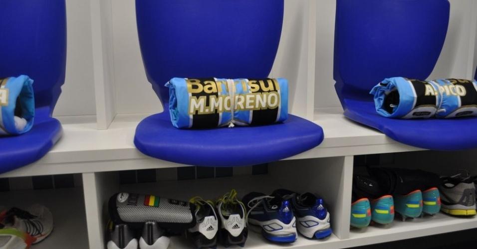 Camisa do atacante Marcelo Moreno para jogo inaugural da Arena do Grêmio (08/12/12)