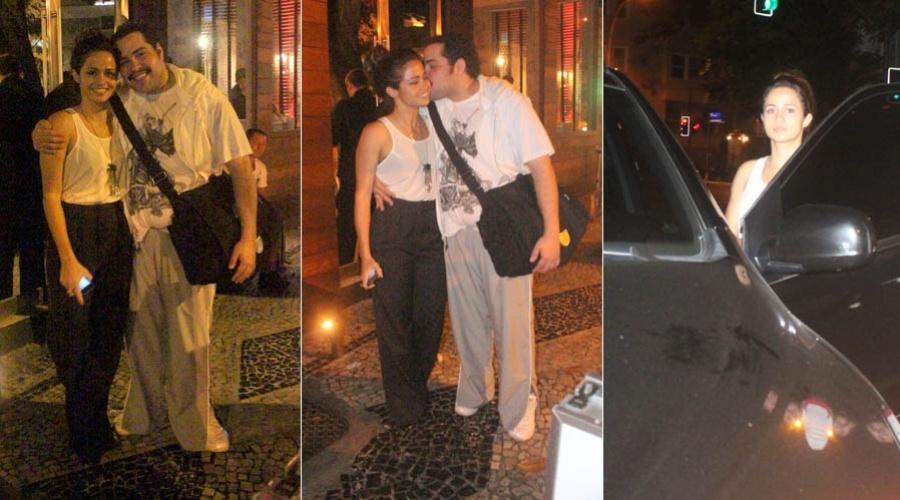 .2012 - Nanda Costa e Tiago Abravanel jantam juntos em restaurante na