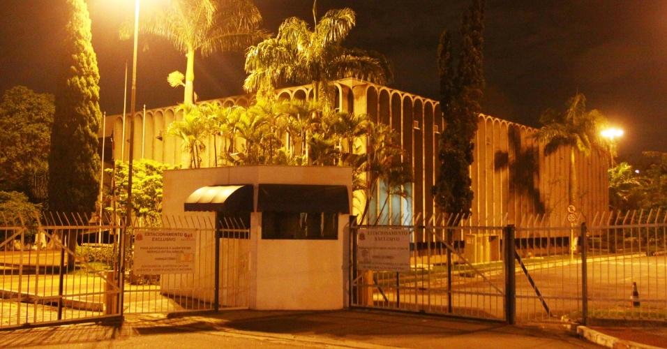 10.dez.2012 - Três pessoas foram presas após roubarem armas do fórum de São Caetano do Sul, no ABC Paulista
