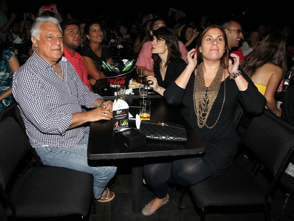 9.dez.2012 - Antonio Fagundes assiste ao ltimo show de Sandy do lbum solo 