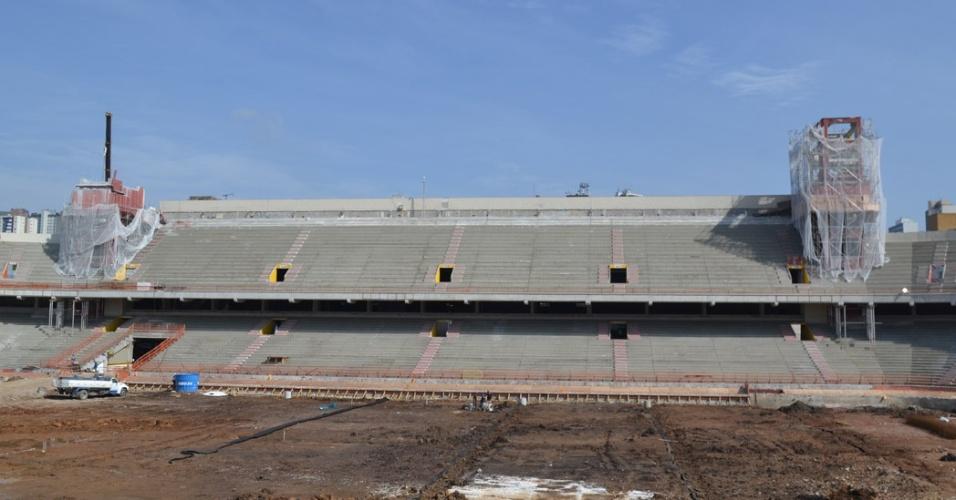 Obras da Arena da Baixada, estádio do Atlético-PR