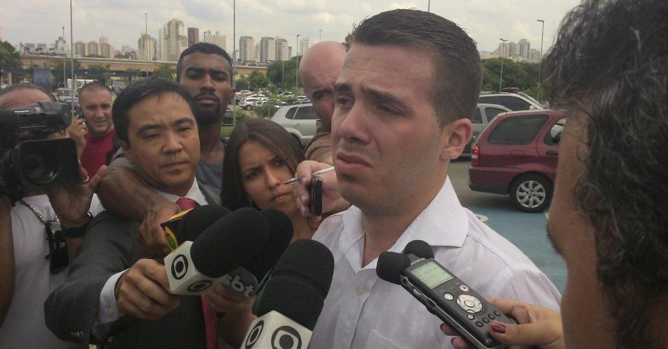 Wagner Alves Alvarenga, 23, no Fórum da Barra Funda quando foi assinar termo de comparecimento, um dia após ser solto sob fiança