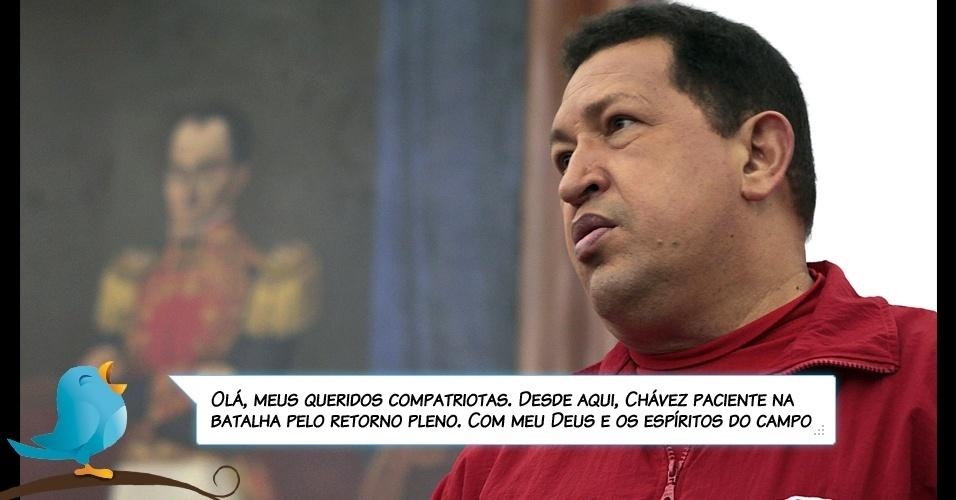 11.jul.2011 - Declaração de Chávez via Twitter