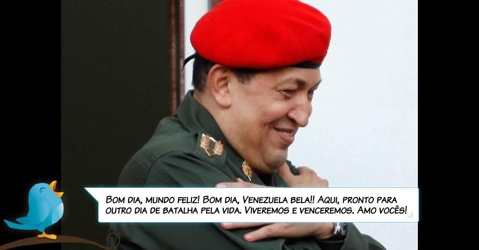 18.jul.2011 - Chávez via Twitter