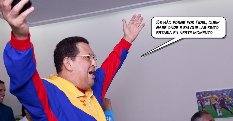 1.jul.2011 - Chávez em declaração por telefone em um programa de televisão venezuelana