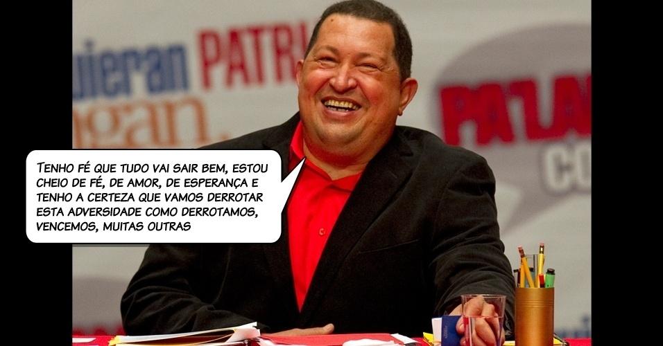 24.fev.2012 - Chavez antes de fazer avaliações médicas para uma cirurgia em Havana, Cuba