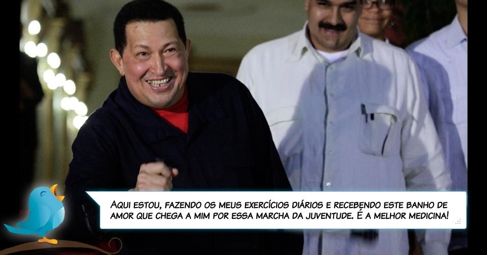 3.jul.2011 - Chávez pelo Twitter