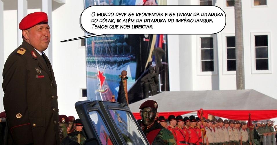 6.ago.2011 - Declaração de Chávez em um discurso transmitido pelo canal oficial VTV, antes de viajar a Cuba para iniciar a segunda fase da quimioterapia