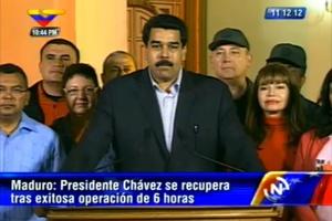 Máduro anuncia o sucesso da operação de Hugo Chávez, que durou 6 horas