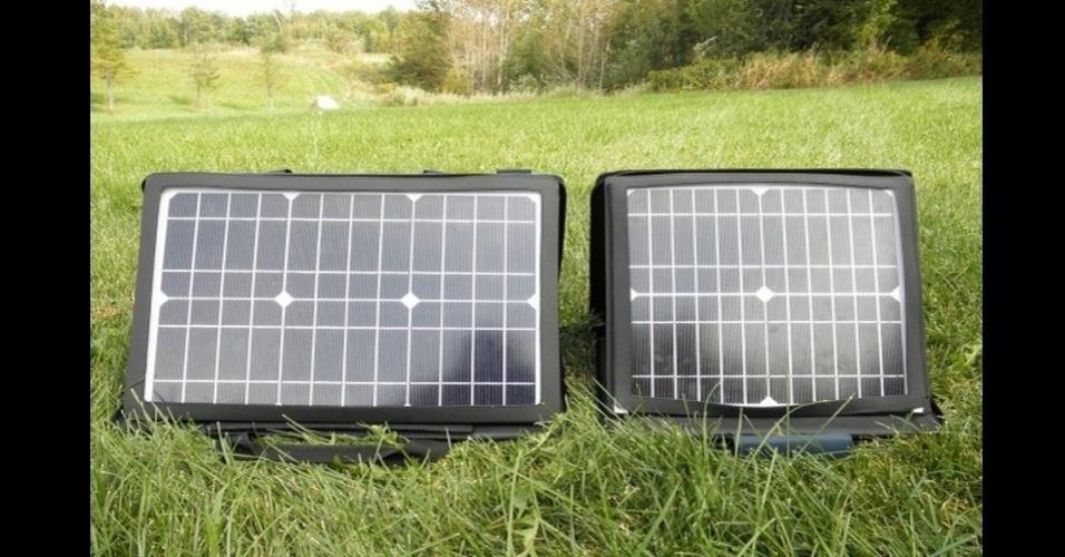 De nada serve um eletrônico se ele não tiver bateria. Na falta de tomadas, o carregador solar SunVolt quebra um galho, principalmente em acampamentos. Por US$ (cerca de R$ 200 na versão mais básica) na loja Gomadic Corp