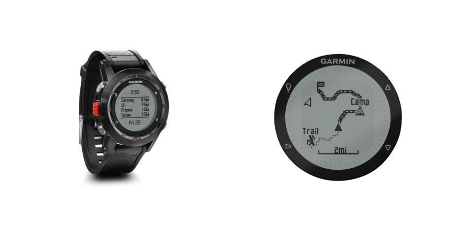 O relógio de pulso Fênix, da Garmin, está programado com os recursos de um altímetro, barômetro e bússola. O equipamento também possui navegação GPS para os aventureiros e alpinistas não se perderem durante o trajeto. Preço sugerido de R$1.700