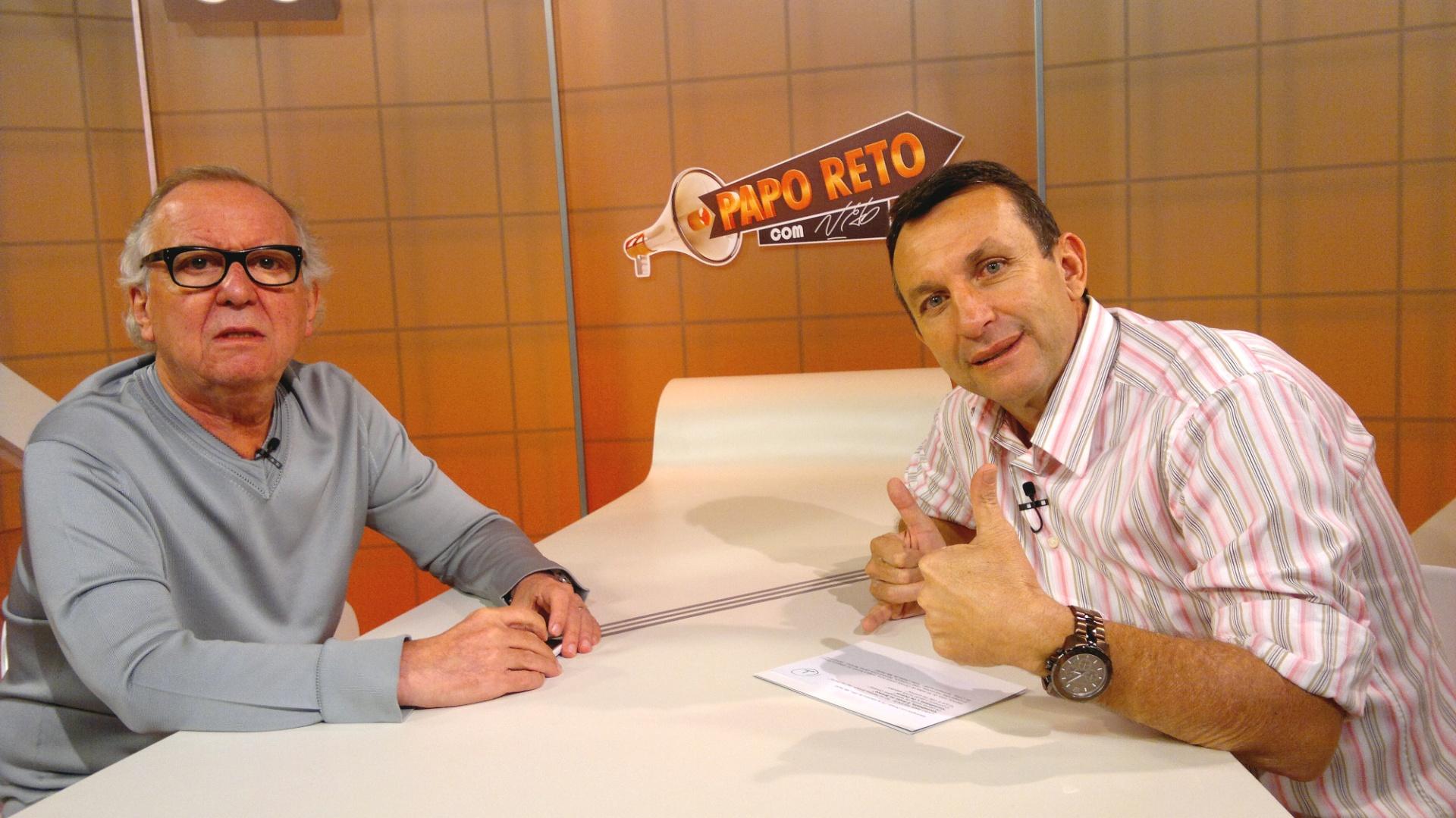 Washington Olivetto fala sobre marketing e futebol com o blogueiro e apresentador Neto