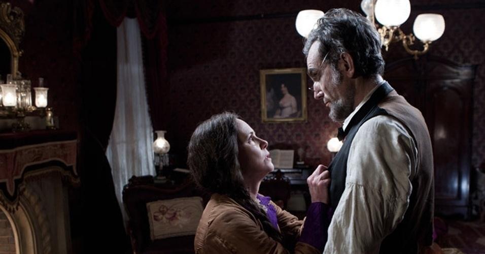 "Sally Field e Daniel Day-Lewis em cena de ""Lincoln"", de Steven Spielberg"