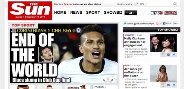 """Jornal britânico The Sun declara """"O fim do mundo"""" após derrota do Chelsea"""