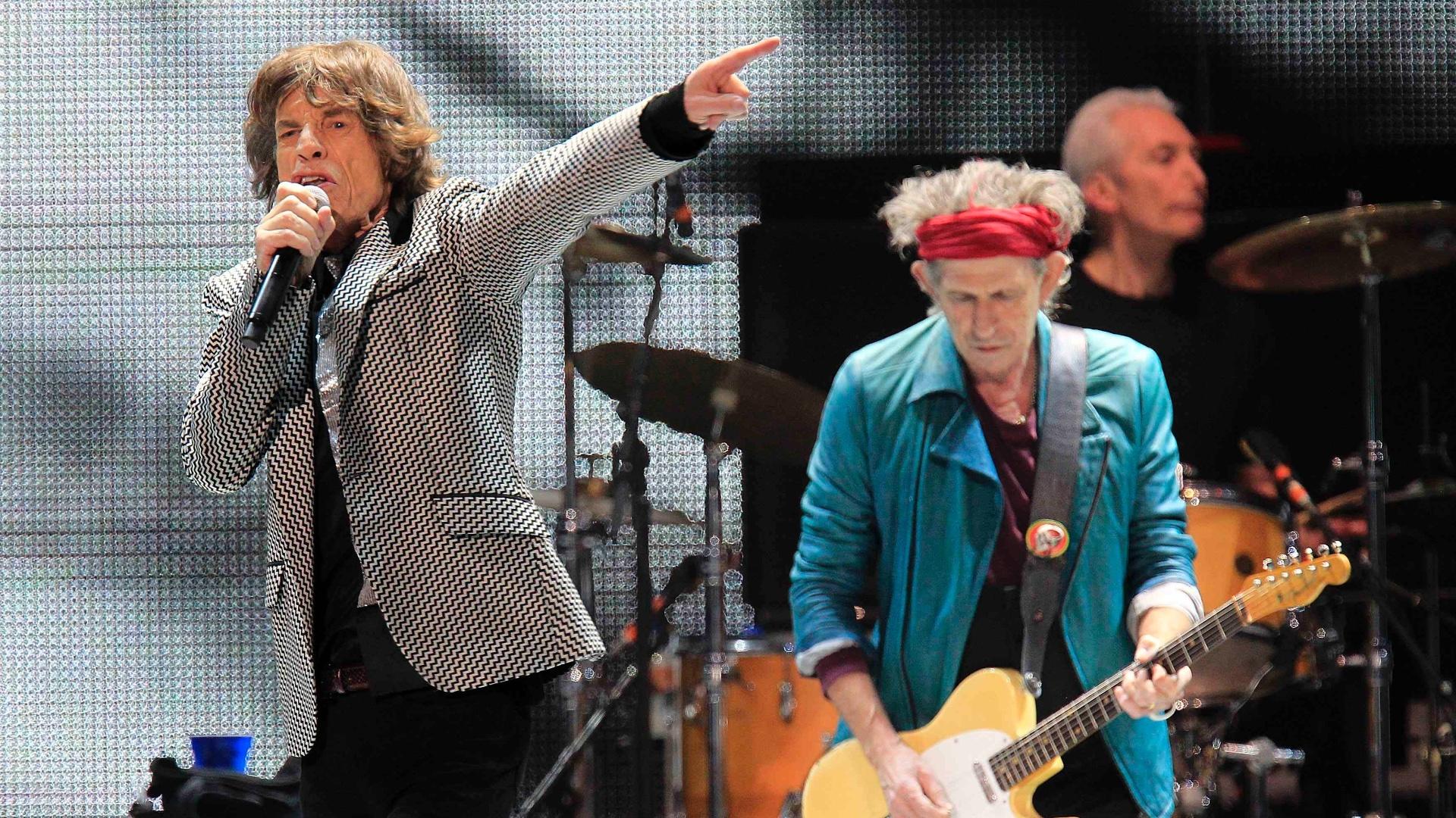 16.dez.2012 - Os Rolling Stones fizeram neste sábado o último show em comemoração aos 50 anos de carreira da banda, nos EUA