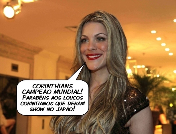 A apresentadora Renata Fan comenta a conquista do Mundial pelo Corinthians
