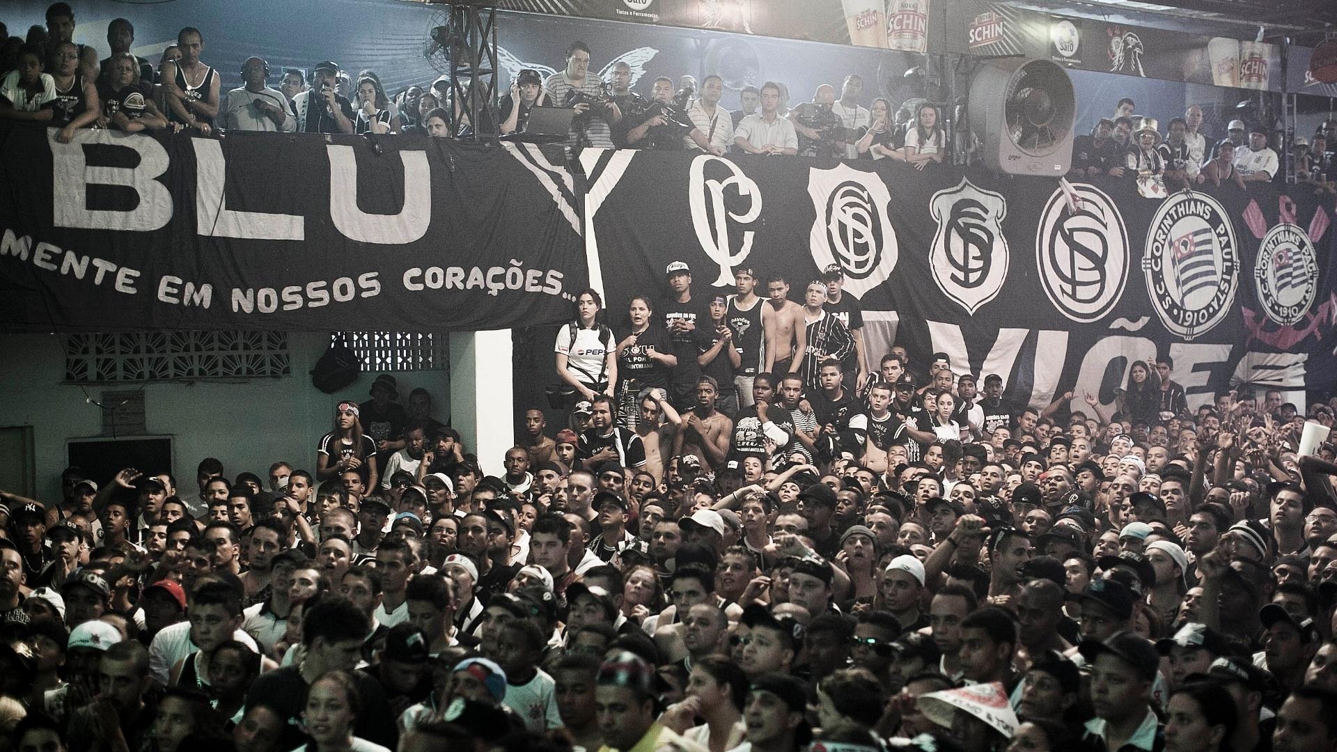 Bandeiras foram colocadas na sede da Gaviões para acompanhar a final do Mundial de Clubes