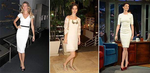 Gisele Bündchen, Nathalia Dill e Anne Hathaway mostram como usar look branco com elegância