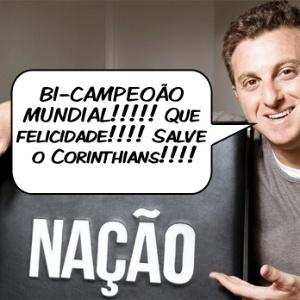 O apresentador Luciano Huck comenta a conquista do Mundial pelo Corinthians
