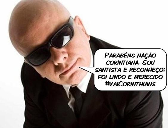 O apresentador Marcelo Tas comenta a conquista do Mundial pelo Corinthians