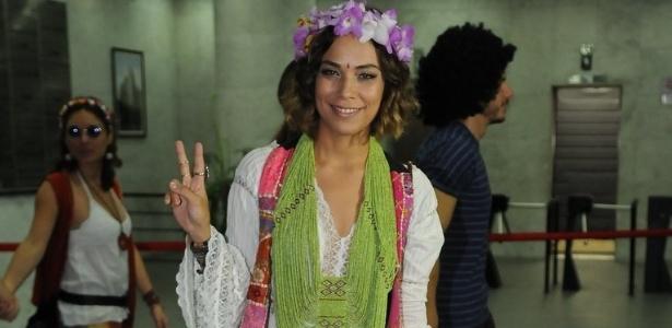 16.dez.2012 - Bia Antony, mulher do jogador Ronaldo, foi à festa da cantora Wanessa, que comemorou seus 30 anos no clube Royal, em São Paulo