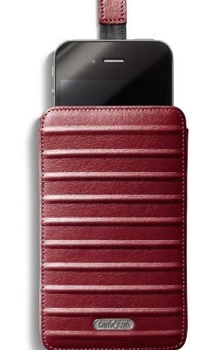 Capa para iPhone de couro Case_Red