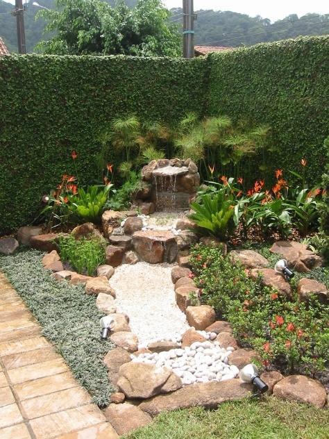 mini jardim japones fotosFontes e cascatas de diversos tamanhos e