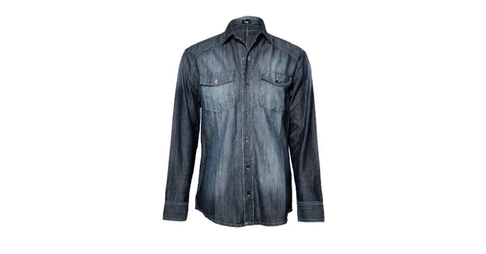 Camisa feminina de jeans ecológico