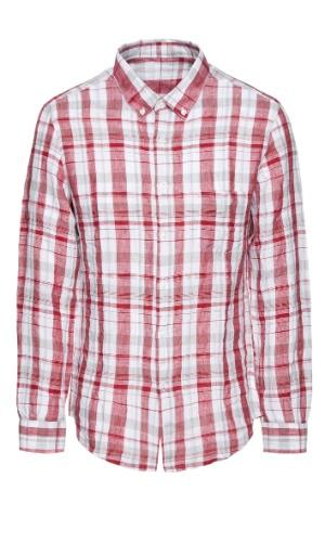 Camisa masculina. R$ 286, de Adolfo Dominguez (SAC: 0xx11 3823-3710). Preços consultados em dezembro de 2012 e sujeitos a alterações